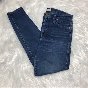 "Madewell 10"" High Riser Skinny Skinny Jeans Sz 30"